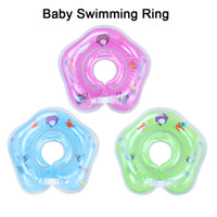 Wholesale Baby Swimming Neck Float - Kids Air Inflator Swim Neck Float Ring Baby Swimming Circle Summer Baby Float Swimming Neck Ring