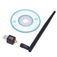 Wholesale Portable Router For Usb - USB Wireless wifi Adapter with 5dB Antenna 150Mbps LAN Network LAN Card Portable Mini Router for Desktop Laptop 802.11b g n