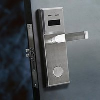 Wholesale MF card Contactless lock Stainless Steel Silver Electronic lock XL5203M1 with DND function Panic Release Free software