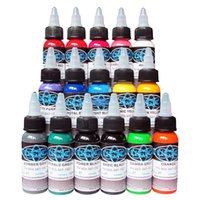 Wholesale High quality Fusion Tattoo Ink Colors Set oz ml Bottle Tattoo inks Pigment Kit for D makeup beauty skin body art