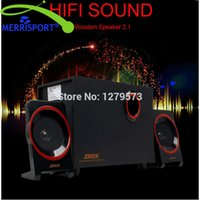 Wholesale Usb Laptop Computer Speakers - Wholesale- 2.1 USB Computer Speakers with Bass Subwoofer & Dual Stereo Satellite Speakers For Computer, Laptop, PC, Phone, PSP and Gaming