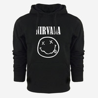 Wholesale Cool Hooded Sweatshirts - Wholesale- Nirvana Hooded Streetwear Hip Hop Hoodies Sweatshirts Men Women Spring Autum Winter Outerwear Cool Clothing