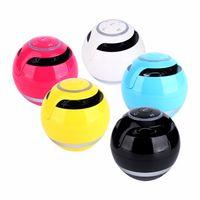 Wholesale Mini Ball Speaker Dhl - Multifunctional GS009 Mini Ball Shaped Portable Bluetooth Wireless Stereo Handsfree Speaker with LED Light Free DHL