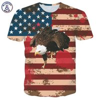 Wholesale Hope Summers - 3D USA Flag Eagle Print Men Women 3D T-shirt brand Fashion Summer short sleeve Tops Tees casual Hip hope high elastic T shirts