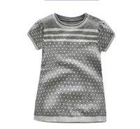 pulls mignons livraison gratuite achat en gros de-Vêtements pour enfants en gros bébé filles de mode manches courtes pull en flocon de neige robe infantile dot pullver mignon tricot robe livraison gratuite