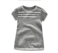 suéteres lindos envío gratis al por mayor-Venta al por mayor ropa de los niños niñas de moda de manga corta suéter de escamas de nieve vestido punto infantil pullver vestido de punto lindo envío gratis