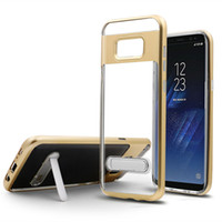 Wholesale crystal pro covers - Crystal Armor Case With Kickstand Hybrid TPU+PU Cover For Samsung J2 J5 J7 Prime HUAWEI Mate9 Pro P8 P9 Lite P10 Plus