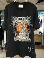 Wholesale Graphic Designs T Shirts - 2017ss summer tshirt men Fear Of God Metallica justice for all Graphic Artwork Design Vintage justin bieber rock Tee t-shirt men