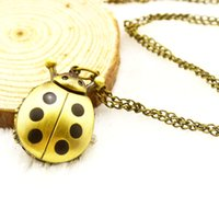cartoons of nursing - The trend of retro watch cartoon beetle long lovers bronze long necklace sweater watch list
