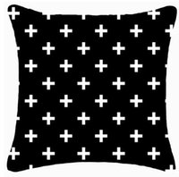 Wholesale Set Covers For Sofa Cushions - New arrival design home decorative cushion cover multi-color geo black print reindeer and cross diamond for sofa bedding sets 5pcs lot