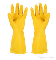 Wholesale Washing Latex Gloves - Winter Warm Kitchen Wash Dishes Cleaning Waterproof Long Sleeve Rubber Latex Gloves Tool Laundry Housework gloves