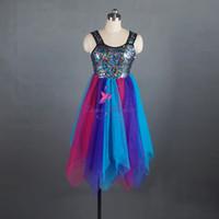 yeni çağdaş toptan satış-Yeni Varış Lirik Dans Pullu Elbise Kadınlar için Bale Dans Kostüm Çağdaş Elbise Sahne Gösterisi Kostüm Performans Leotard Elbise