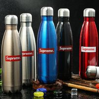 Wholesale hot water bottle ml coca cola outlooking FDA stainless material cool style sports kettle mix color