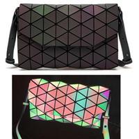 bolsos de retazos geométricos al por mayor-2017 Nuevas Mujeres Bolso Patchwork Enrejado Hombro Crossbody Bolsas Messenger Bag patrones geométricos