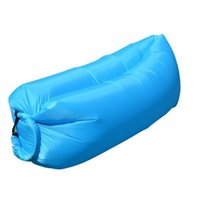 Wholesale Lazy Air Hangout Fast Inflatable Sleeping Bed Sofa for Outdoor Camping Beach Bag Fast Lazy Bag Sleeping Beach Bed Banana Lounge Bag