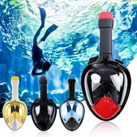 Wholesale Children Snorkel - Full Face Scuba Diving Mask Anti-Leak With Action Camera Mount Snorkel Goggles Sets Under Water Equitment For Aldut And Children