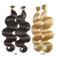 Wholesale Remy U Tip 1g Strands - Body wave remy hair 1g strand 100s u tip keratin fusion human hair extension 14''-28'' can be customized