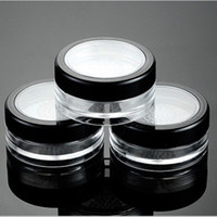 Wholesale Empty Powder Containers - 10g Black Clear Cap Loose Powder Compact With The Grid & Lid PP Powder Jar Packing Container Empty Powdery Cake Box F2017892