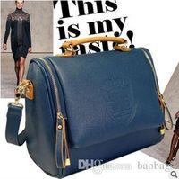 Wholesale Handbag British Retro - Newest fashion Women Lady British crown retro PU Leather Shoulder Bag Shoulder flap bag leather handbag Purse Cross Bags