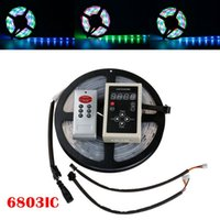 Wholesale Waterproof Tube Digital Rgb - 5M 6803 IC SMD 5050 Digital 12V RGB LED Strip 150 LED Silicone Tube Waterproof Dream Magic Color LED Strip Light +RF6803 Controller