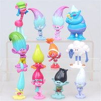Wholesale Cake Set Toys - 12pcs per set Trolls Ugly Princess Babies PVC Figures blancpie cakes decorations dolls children toys gifts Brinquedo OTH068