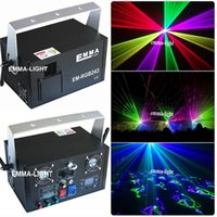 Atacado- Nova Posh lazer Projetor 2 watt RGB DJ Disco Light Stage Natal Party Laser Lighting Show - Preto