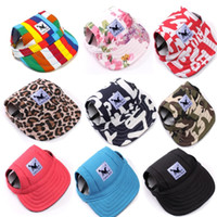 Wholesale Female Hair Colors - 10 Colors Pet Dog Hat Baseball Hat Summer Canvas Cap Only For Small Pet Dog Outdoor Accessories Outdoor Hiking Sports
