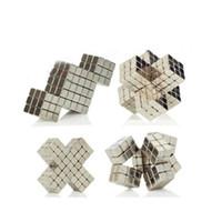 Wholesale Cube Art - Hot Arts 3mm 4mm 216pcs Fidget Cube Magic Toys Neodymium Ndfeb Magnetic Balls Cube Sphere Block with metal Box,Color:Nickel, Free Shipping