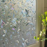 pegatina de cristal estática al por mayor-45 * 100 cm pegatinas de película de ventanas de vidrio esmerilado estático sin adhesivo de ventana de baño etiqueta engomada de ventana de baño translúcido opaco