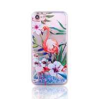 Wholesale Greens Powder Wholesale - NEW Glitter Powder Animal Flamingos Paillettes Liquid Quicksand Phone Cases For Apple iPhone 7  7Plus 6 6S  6Plus 6S Plus