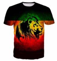 camisa fresca do leão venda por atacado-Mais recente Moda Mens / Womans Cool Lions Estilo Verão Tees 3D Impressão Casual T-Shirt Tops Plus Size