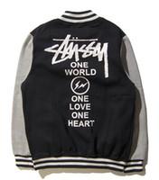 Wholesale Single Breast Long Sleeves Cardigan - designer hoodies for men women sweatshirt palace sweats Harajuku streetwear hoodie track suit mens hip hop hoodies suprem baseball jacket