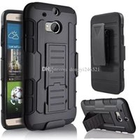 Wholesale M7 Case Holster - New style Future Armor Hybrid Hard Case Cover + Belt Clip Holster Kickstand Combo Phone Cases for HTC M7 M8 M9 M10