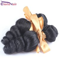Wholesale Discount Hair Bundles - Discount Mix 2 Bundles Loose Curly Wave Brazilian Hair Weave Cheap Brazillian Loose Wavy Human Hair Extensions 1b Full Cuticle