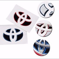 Wholesale Mirrors Covers For Toyota - Car Styling New Fashion Steering Wheel Logo Badge Emblems Sticker Cover Rubber For Toyota Highland Camry Corolla RAV4 Prius