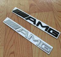 Wholesale AMG Metal Emblem Badge Logo Alloy Car Logo Grill Badge for car decoration D ABS Chrome Black Sticker Emblem D Car Badges mmX20mm