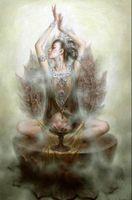 pintura de kwan yin venda por atacado-Chinês Dunhuang fada Avalokitesvara Kwan-yin, Pure pintados à Mão, Retrato da beleza da Arte pintura A Óleo Sobre tela, Multi tamanhos Disponíveis DH009