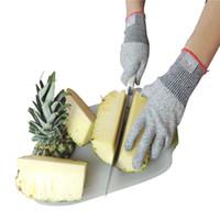guantes de nivel al por mayor-Guantes resistentes al corte Guante de cocina con nivel de grado alimenticio 5 Seguridad Protección de las manos Guantes de trabajo livianos Regalos de Navidad para ama de casa