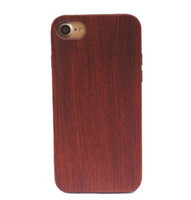 Wholesale Blank Iphone Case Dhl - Wholesale Price Wood Case For Iphone 7 plus Real Blank Wooden TPU Phone Cover For Iphone 6 6s plus Samsung Galaxy S8 Plus Wood Cases DHL