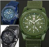 relógios trançados venda por atacado-Mar atacado E Movimento Da Força Aérea Assistir Relógios De Pulso Do Exército Gemius Relógios De Pulso Suíço Swiss Pano Trançado Relógio De Corda