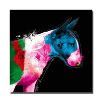 Wholesale Oil Painting Hunting - Abstract design hand painted strong animal hunting dog oil painting pictures for modern living room wall decor