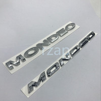 Wholesale Names Stickers - Car Emblem for Ford Mondeo 3D Letters Logo badge Rear Trunk Lid Name Plate Silver Sticker