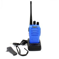 Wholesale 5w Uhf Handheld - Baofeng BF-888S 5W UHF 400-470MHZ Blue Walkie Talkie Handheld Portable Radio BF888S 16 Channel VOX CTCSS CDCSS