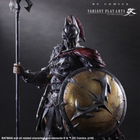 Big Kids paint wood finish - Batman Play Arts Kai scale painted figure Variant variable Ver Timeless Spartan PVC Action Figures Collectible Model Toys