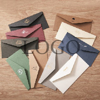 Wholesale Envelopes For Greeting Cards - Free Shipping 50 pcs High End Luxury Envelope Texture Special Paper Clothing Gift Craft Envelopes For Wedding Letter Invitations Wholesale