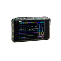 osciloscópio lcd venda por atacado-Freeshipping Mini Digital Osciloscópio LCD USB ARM Nano V2 Quad Portátil Osciloscopio 8 MHz 4 Canais Osciloscop Caso De Plástico