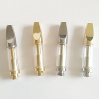 Wholesale Wholesale Silver Fast Shipping - New Original 510 Vaporizer Cartridge Glass with Cool Bullet Tip 0.5ml   1.0ml Silver Gold Colors Branding Welcome DHL Fast Shipping