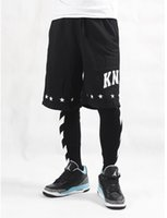 Wholesale Skinny Leg Patterned Pants - Wholesale off white stripe printed hip-hop lovers mens hiphop legging fashion man Full Length Elastic Waist pants free shipping