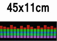 Wholesale Music Rhythm Led - equalizer sticker 90*25 cm 5 Colour Rhythm EQ Sticker Music Equalizer on Car Windshield LED Sound Music Activated EL