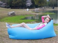 Wholesale Goose Camps - Fast Inflatable Air Sleeping Bag Waterproof Lazy Sofa Bed Festival Camping Hiking Travel Hangout Beach Bag Bed Camping Banana Couch